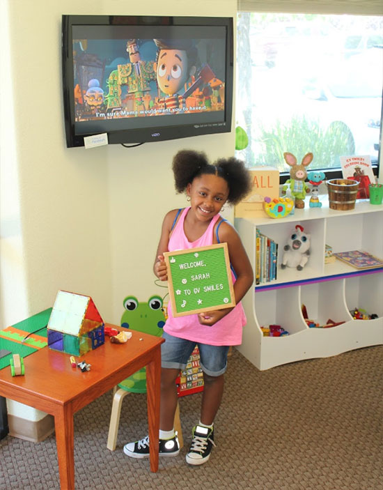 A Young Patient at our Pediatric Dental Office in Fairfield, CA - GV Smiles Pediatric Dentistry and Orthodontics